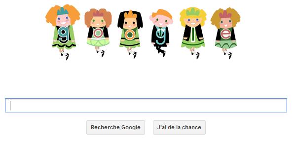 Google aussi fête la Saint-Patrick !