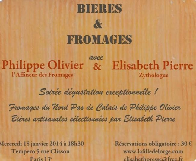 Atelier Bières & Fromages Mercredi 15 Janvier à Paris