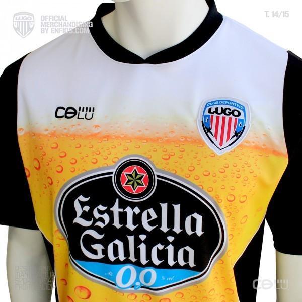 Le maillot bière de l'équipe de Lugo (2ème division espagnole)