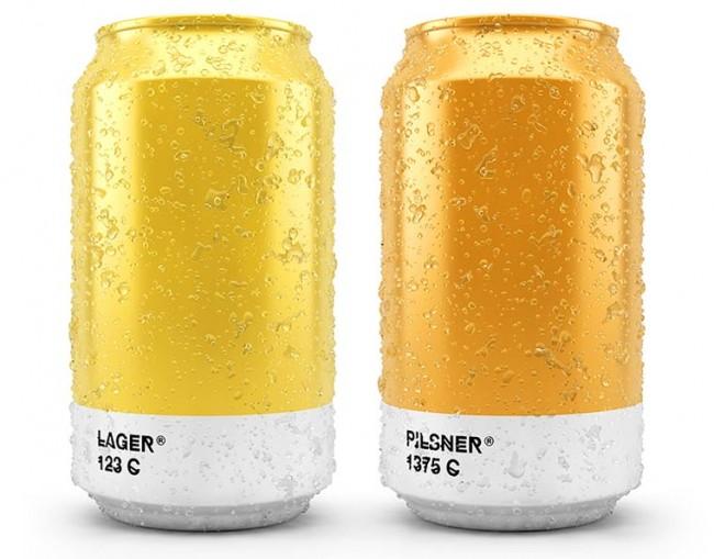 Les couleurs de la bière en Pantone