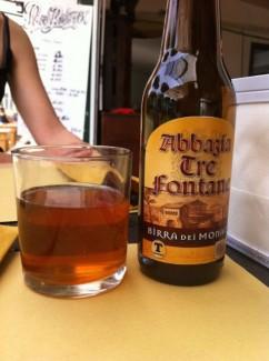 Birra dei Monaci avec verre