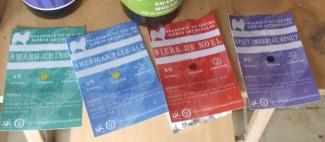 Nouvelles étiquettes de la brasserie