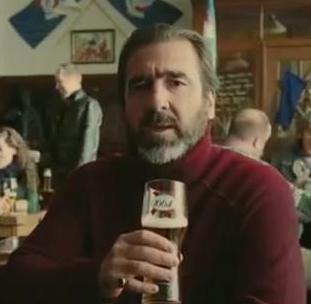 Exceptionnel Cantona dans une publicité pour la bière Kronembourg !