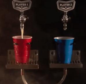 Ce jeu arcade sert une bière au vainqueur du combat
