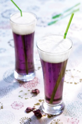 Cocktail bière de Printemps violette jasmin