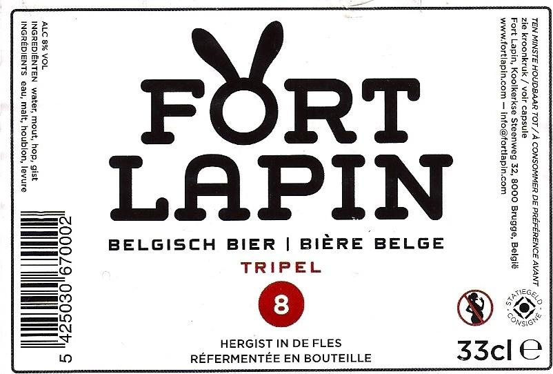 Etiquette Fort Lapin Blonde