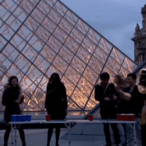 Beer Pong everywhere in Paris