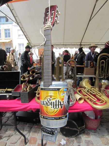 Un fût d'Affligem transformé en instrument de musique
