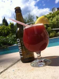 Cocktail bière fraise
