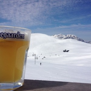 La Hoegaarden au ski plus belle photo de Mai