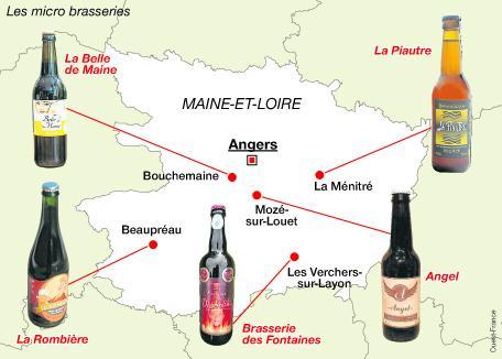 Les bières artisanales de la vallée d'Angers