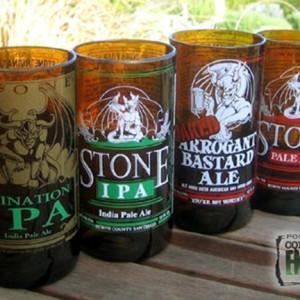 Fabriquez de jolis verres avec des bouteilles de bière usagées !