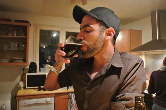 Pour la petite histoire… dégustation de ma 1ère bière maison !