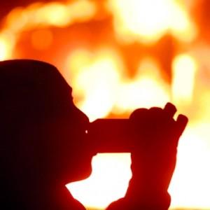 Un incendie éteint avec de la bière