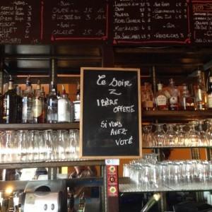 Belle initiative, un bar Toulousain offre une bière à tous les votants !