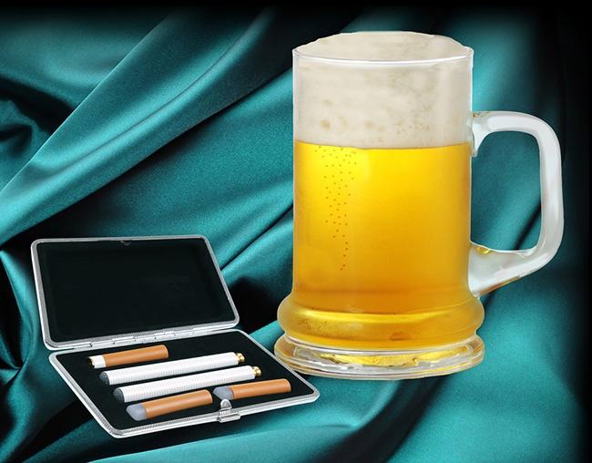 La cigarette électronique goût bière, whisky ou champagne