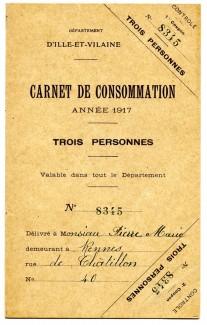 Carnet de Consommation (Archives de Rennes)