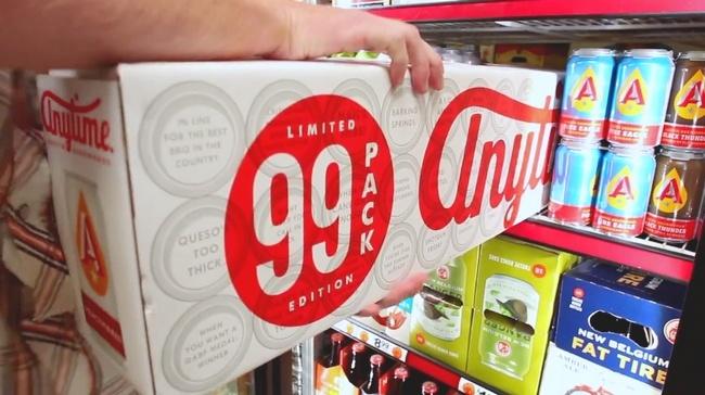 Un pack de 99 bières