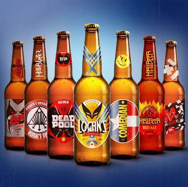 Après Superman voilà les SuperBeers, les super-héros à la bière !