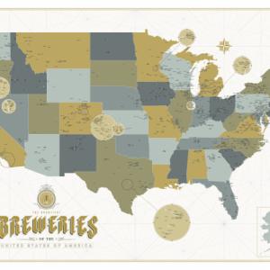 La carte des brasseries américaines