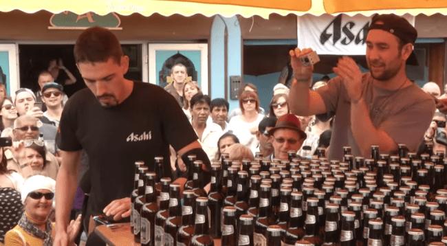 Un français ouvre 2 000 bières en 24 minutes