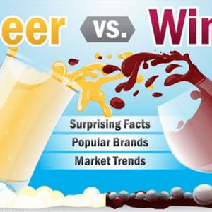Infographie: le vin opposé à la bière