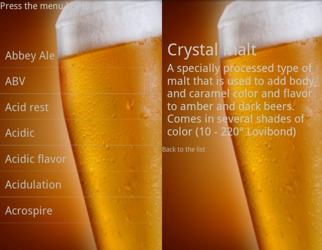 Beer Dictionary
