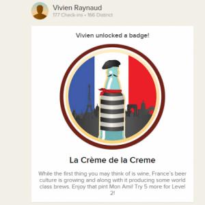 Enfin un badge français sur Untappd !