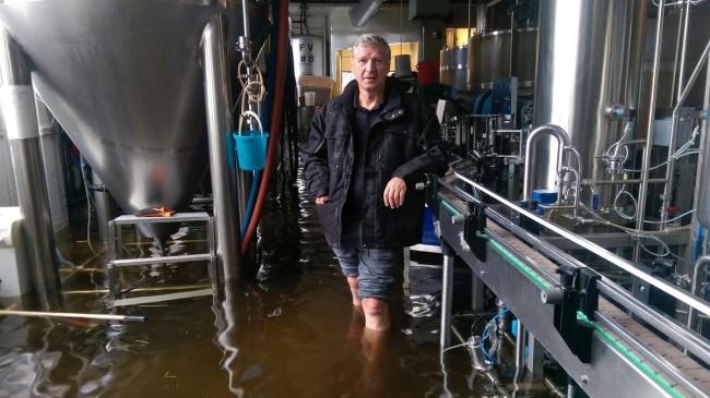 Terribles inondations à la brasserie Nøgne Ø