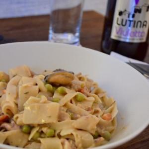 One Pot Pasta aux fruits de mer et à la bière Lutina