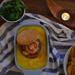 Le Welsh burger à la Turone ambrée