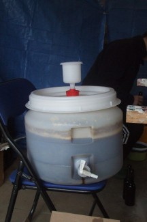 IPA framboise en fermentation