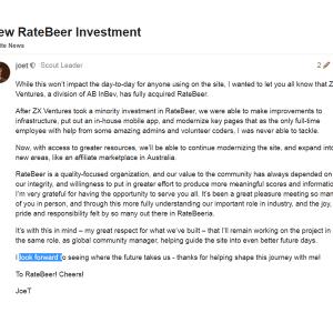 AB InBev acquiert 100% de Ratebeer